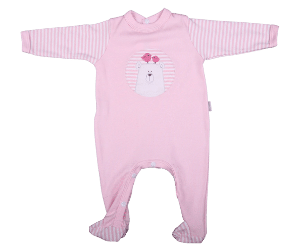 Embroidered Bear Babygro