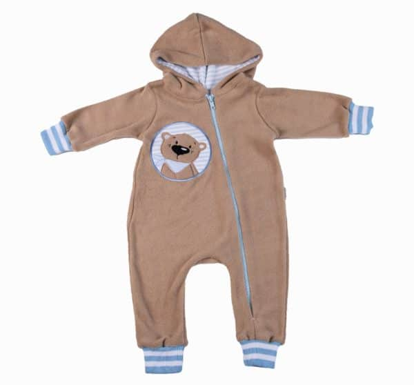 Caramel Bear Zip BabyGro - Blue