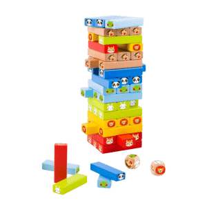 Animal Jenga Wooden Block Toy