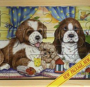12Pc Puzzle Case - Puppies