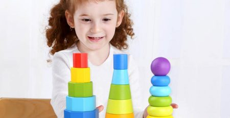 shape stacker 3pc tooky toy - toys for kids