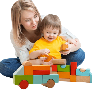 Wooden Jumbo Colour Blocks - Kids Toys